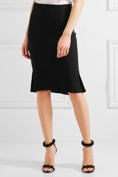 Roland Mouret - Nash Fluted Wool-crepe Skirt - Black - UK