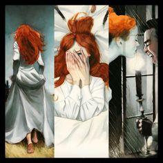 Catherine  'Cumbres Borrascosas' de Emily Brontë. Exposición de originales en @panta_rhei_madrid ....hasta el 7 de mayo @treshermanased #cumbresborrascosas #WutheringHeights #fernandovicente #emilybrontë #treshermanasediciones #panta_rhei_madrid