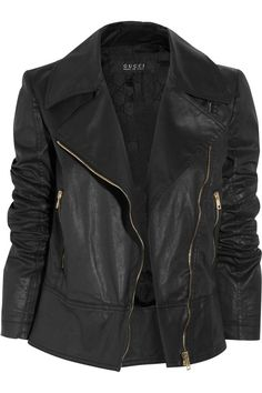 GUCCI Bomber jackets are a key look for Spring 2013 and this biker jacket is just gorgeous and a more than acceptable variation on that theme. Gucci Leather Jacket, Gucci Coat, Leather Jackets, Gucci Gucci, Bomber Jackets, Vip Fashion Australia, Grunge, Autumn Winter Fashion, Winter Wear