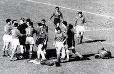 """Chile vs Italy (Group Stage World Cup 1962 Chile)  The first foul occurred within 12 seconds of the kick-off... many more to follow. The game is also known as """"The Battle of Santiago""""  BBC sports commentator David Coleman described it later as """"the most stupid, appalling, disgusting and disgraceful exhibition of football, possibly in the history of the game."""""""