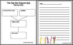 Writing activity The Day the Crayons Quit