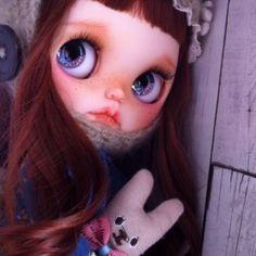 ... Muha ... ∥ ∥∵∵ Custom Blythe Rabbit ∵ (USED)  Buy her here:   #blythe #blythedolls #kawaii #cute #rinkya #japan #collectibles #neoblythe #customblythe