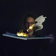 At first I thought this image represented the way reading can spark imagination. Reading the photographer's description gives it a whole new twist.