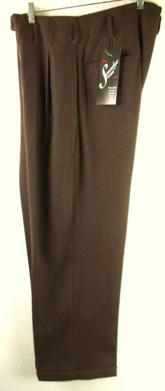 "Vintage1950S*Hollywood Rockabilly VLV WOOL GAB Pants ALL SIZES:34"" TO 46"" WAIST #HandtailormadeBySwankys"