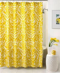 Trina Turk Bath, Ikat Shower Curtain - Shower Curtains & Accessories - Bed & Bath - Macy's