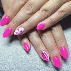 Pink watermelon 🍉 #nails #watermelon #handmade #nailsdesign #nailart