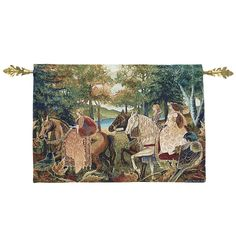 Autumn Riders Wall Tapestry and Rod - New Age, Spiritual Gifts, Yoga, Wicca, Gothic, Reiki, Celtic, Crystal, Tarot at Pyramid Collection