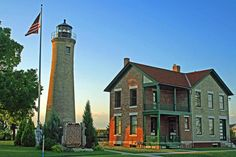 ✯ Historic Southport Lighthouse is located on Simmons Island in Kenosha, Wisconsin