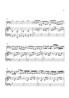 how to play canon in d on piano sheet music