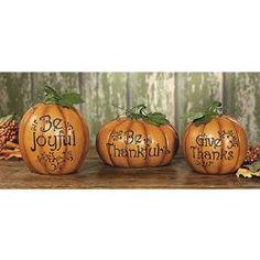 Carved Thanksgiving Pumpkin Set – Decorative Accessories