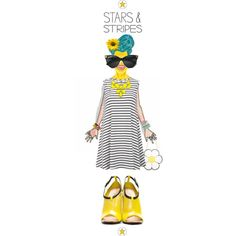 #summer #stripes #funny #yellow