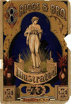 Briggs & Bros Illustrated seed catalogue (front cover), 1873, Rochester, NY