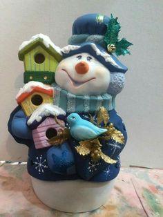 Christmas Clay, Christmas Snowman, Christmas Cards, Christmas Ornaments, Snowman Decorations, Snowman Crafts, Christmas Decorations, Holiday Decor, Pottery Painting