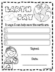 free earth day printables recycling and compost cut and paste kindergarten pinterest. Black Bedroom Furniture Sets. Home Design Ideas