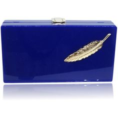 Winter Fall Loyal Blue Leaves Clutch (€24) ❤ liked on Polyvore featuring bags, handbags, clutches, blue handbags, blue purse, leaf purse and blue clutches