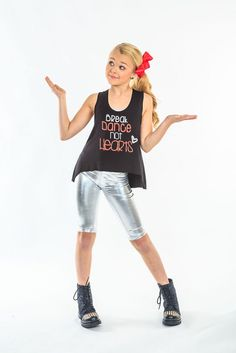 Jojo Siwa Metallic dance Leggings