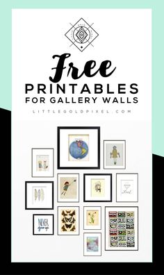 Kitchen Art Printables Free Ideas Awesome Roundup Free Printables For Gallery Walls Free Printable Art, Free Printables, Free Art Prints, Wall Art Prints, Diy Wall Art, Wall Collage, Picture Wall, Decoration, Gallery Walls