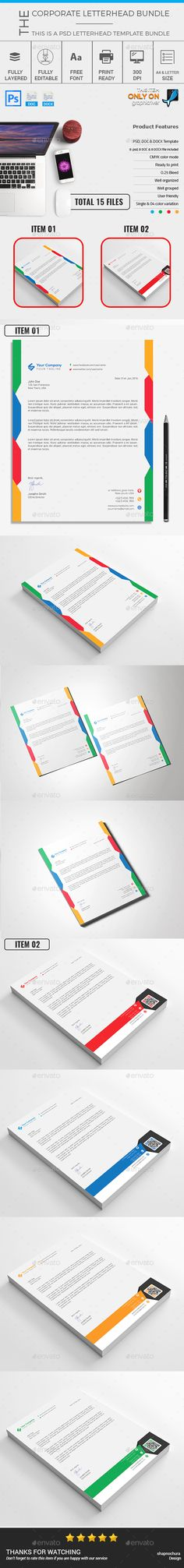 Letterhead PSD Bundle Template u2022 Only available here ➝   - letterhead samples word