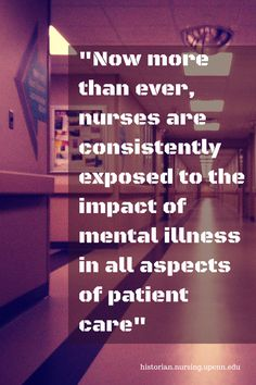 Now more than ever, nurses are consistently exposed to the impact of mental illness in all aspects of patient care. Anxiety Relief, Stress And Anxiety, Stress Relief, Psych Nurse, Hospice Nurse, History Of Nursing, Stressed Out, Mental Health Awareness, Mental Illness