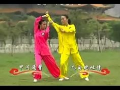 "Yang Tai Chi Quan 2 Man Set Fight |  An amazing video of tai chi ""combat."" It combines elements of push hands, yang tai chi form, and a little chin-na into a 2-person form. Very nice."