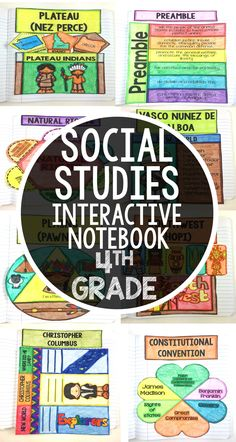 This social studies interactive notebook for fourth grade is perfect for your classroom and activities. Bring common core and learning to your students with these fun classroom templates.