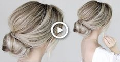 Easy Hairstyles Low Bun Party - how to: simple bun tutorial Simple Wedding Updo, Simple Bridal Hairstyle, Hair Wedding, Messy Bun Updo, Low Chignon, Chignon Hair, Twist Ponytail, Messy Buns, Easy Updo Hairstyles