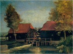23881 Eindhoven, Tongelre. - De watermolen op Coll Gogh, V. van (kunstschilder) 1884