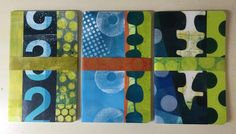"""Jennifer Love on Instagram: """"New Moleskin journals collaged with my gel plate printed papers, now at the GPAG shop in Gibsons. The horizontal straps are removable.…"""" Gelli Plate Printing, Jennifer Love, Moleskine, Journals, Plates, Printed, Shopping, Instagram, Licence Plates"""