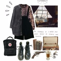Retro Outfits, Grunge Outfits, Vintage Outfits, Cool Outfits, Casual Outfits, Vintage Fashion, Fashion Outfits, Womens Fashion, Aesthetic Fashion