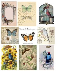 Free collage sheet Use with glass tiles, tray pendants for jewelry, fridge magnets, wood shapes @ecrafty #ecrafty