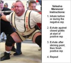 The Valsalva maneuver is a specific breathing technique that you can utilize to immediately improve your weight training performance and safety. Valsalva Maneuver, Breathing Techniques, Weight Training, Breathe, Improve Yourself, Nutrition, Positivity, Health, Health Care