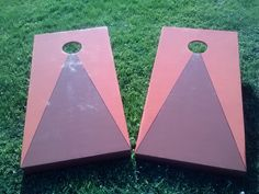 This orange and brown set was put in an auction to raise money for a good cause.