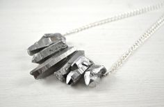BIG - Silber-Collier | Crystal and Sage
