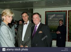 Princess Diana June 1997 With tv radio presenter Terry Wogan at St Marys Hospital in London