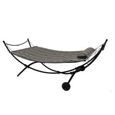 Zoomed: Garden Treasures New Padded Hammock with Stand