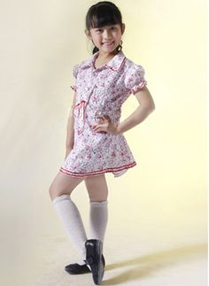 Flower And Short sleeves Sweet Kids Lolita Dress on www.ueelly.com