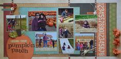 Pumpkin Patch layout using Simple Stories by Darla Weber