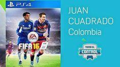 FIFA 16: Juan Cuadrado acompañará a Lionel Messi en portada del videojuego. July 08, 2015.