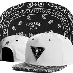 Cayler Sons Paisley Pattern Bandanna Cashew floral Snapback Hats for Men /women Hip Hop cap swag Baseball Caps fashion Sun hat