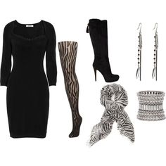 zebra outfit. Pretty sure i have similar items, totally wouldnt have put it together myself, but i think i might try it. :)