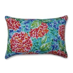 Pillow Perfect Garden Blooms Multi 2-Piece 16.5-in W x 24.5-in L Indoor Decorative Pillow in the Throw Pillows department at Lowes.com