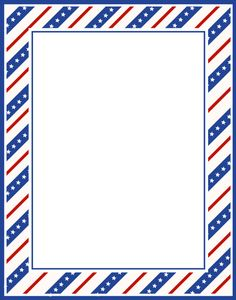 Stripes Page Border | stars stripes border Clipart | 4th Of July ...
