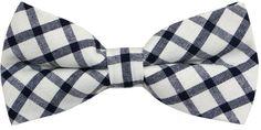 OCIA Mens Cotton Plaid Handmade Bow Tie -OM44 (Black)
