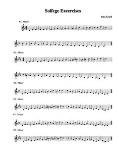Solfege exercises....middle and high school depending on the level of your students