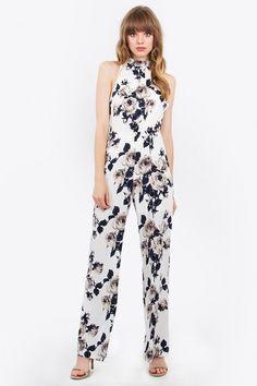 Flower Wall Jumpsuit