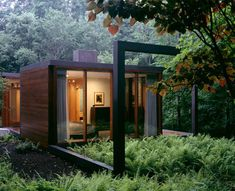 Modern Cabins: A Black Steel-Framed Guesthouse