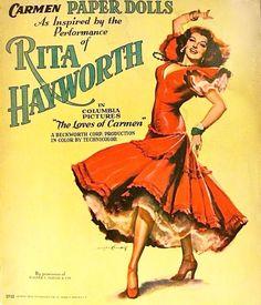 "Rita Hayworth ""CARMEN"" paper dolls"