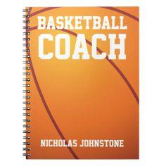Basketball Coach Notebook created By giftsbonanza. #sports #basketball #coach