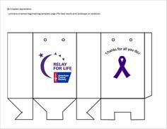Large-Made these to appricate our ELT and team captains Relay For Life, Treat Bags, Card Stock, Cancer, Thankful, Ideas, Goodie Bags, Treat Holder, Paper Board