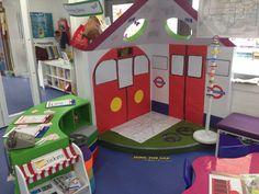 London Underground role play area School Displays, Classroom Displays, Classroom Ideas, Bus Station, Train Station, English Classroom Decor, British Values, Reception Activities, Role Play Areas